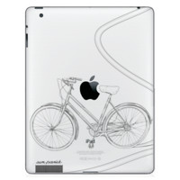 Bicycle  - Custom iPad Engraving - Single Color